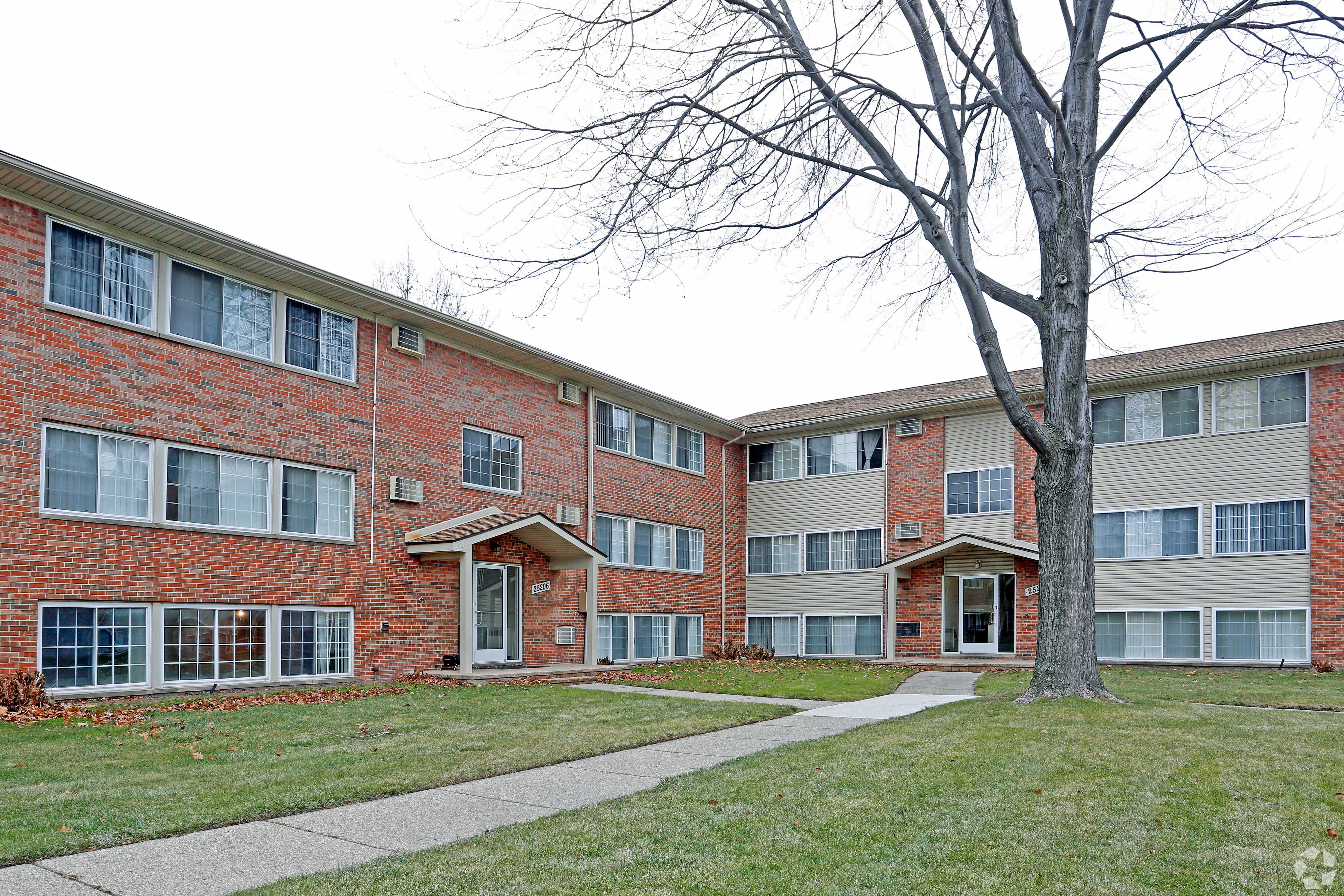 Hoover Square Apartments in Warren, Michigan offers a naturally well-lit entryway