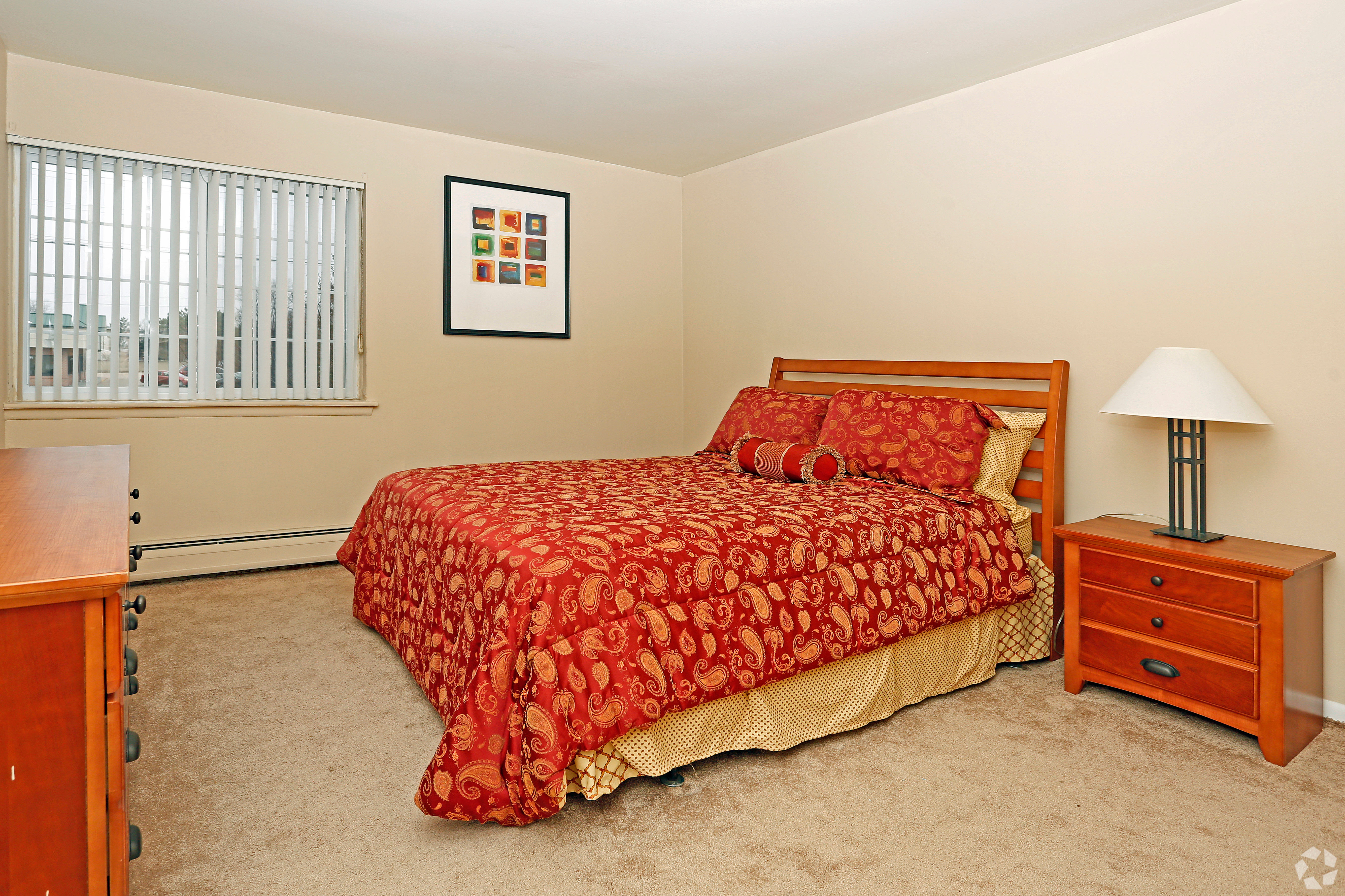 Beautiful apartments with a bedroom at Hoover Square Apartments in Warren, Michigan