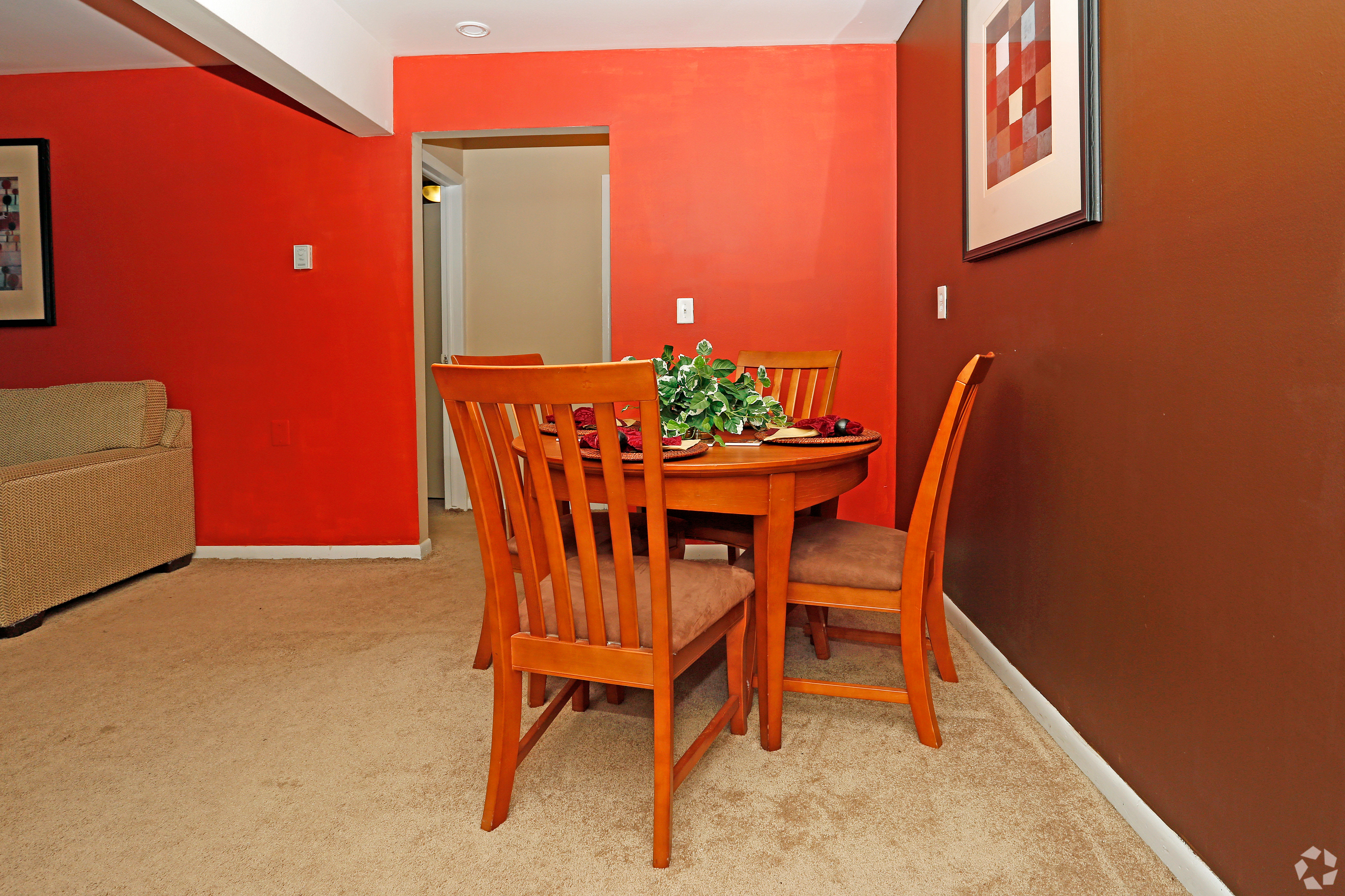 Unique dining room at Hoover Square Apartments in Warren, Michigan