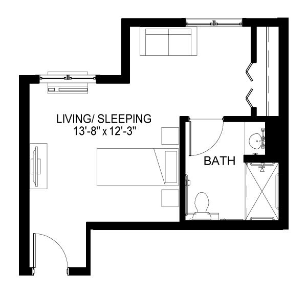 Williams Hill Care Suite A Floor Plan