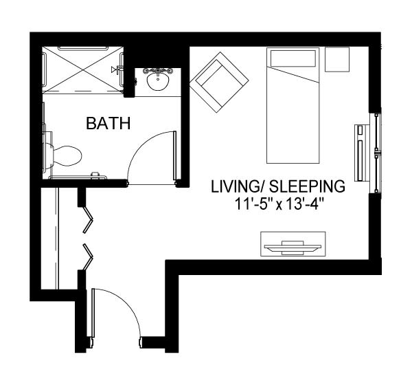 Williams Hill Care Suite E Floor Plan