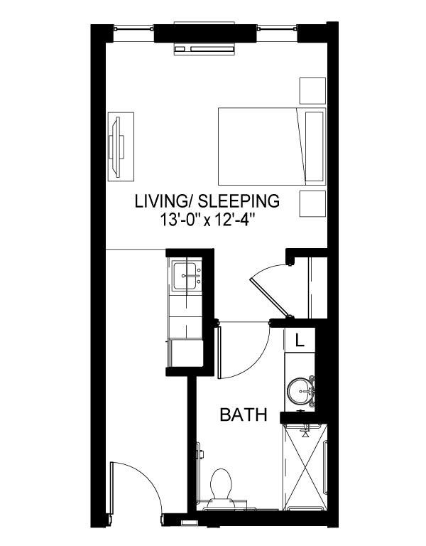 Memory Care A Floor Plan
