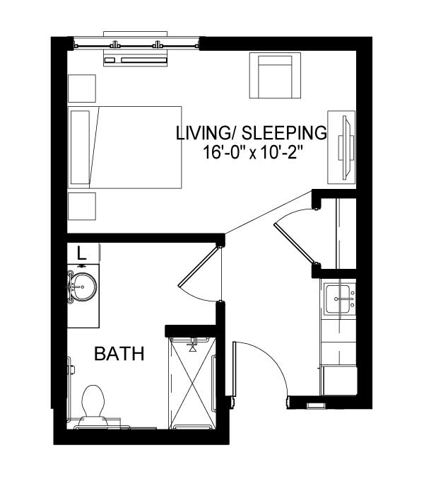 Memory Care B Floor Plan