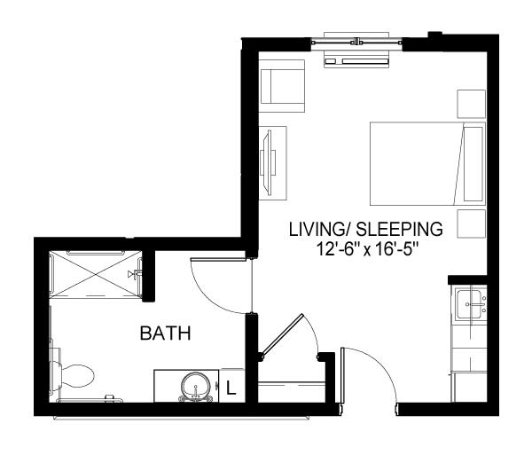 Memory Care E Floor Plan