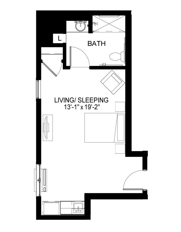 Memory Care F Floor Plan