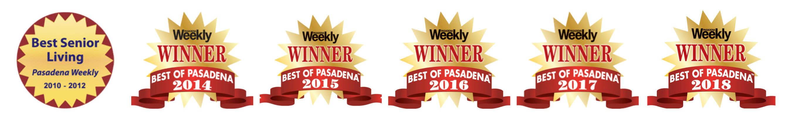 Awards won by Regency Park Senior Living, Inc. in Pasadena, California