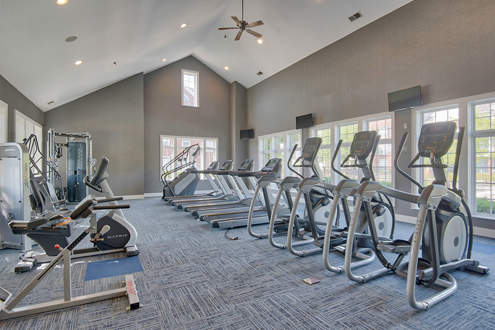 Enjoy apartments with a state-of-the-art fitness center at Preston Gardens