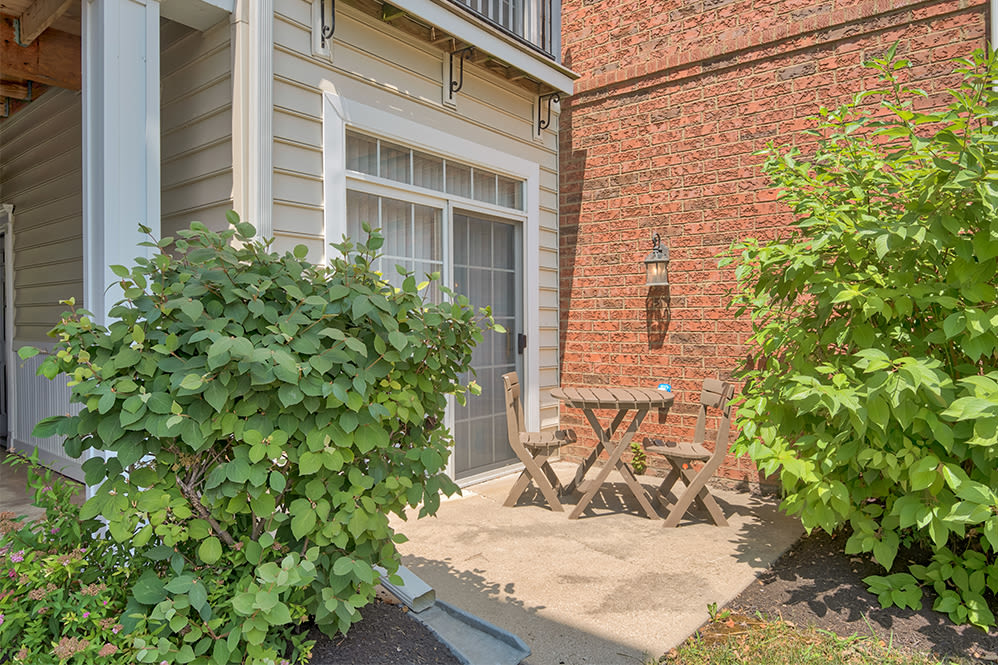 Beautiful private patio in our Perrysburg, Ohio apartments