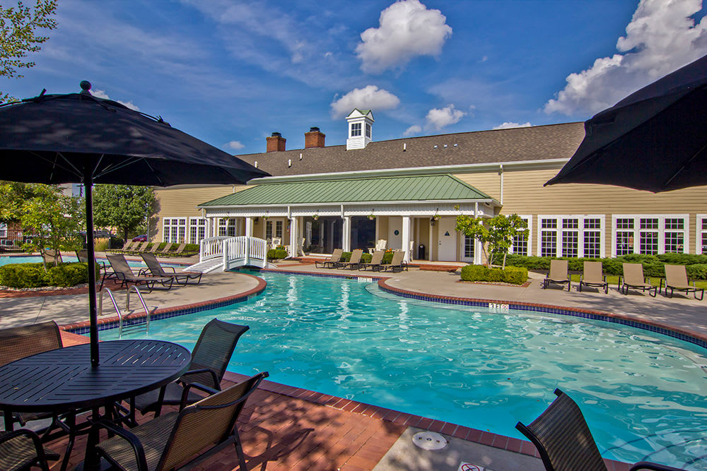 Sun deck and pool at Preston Gardens in Perrysburg