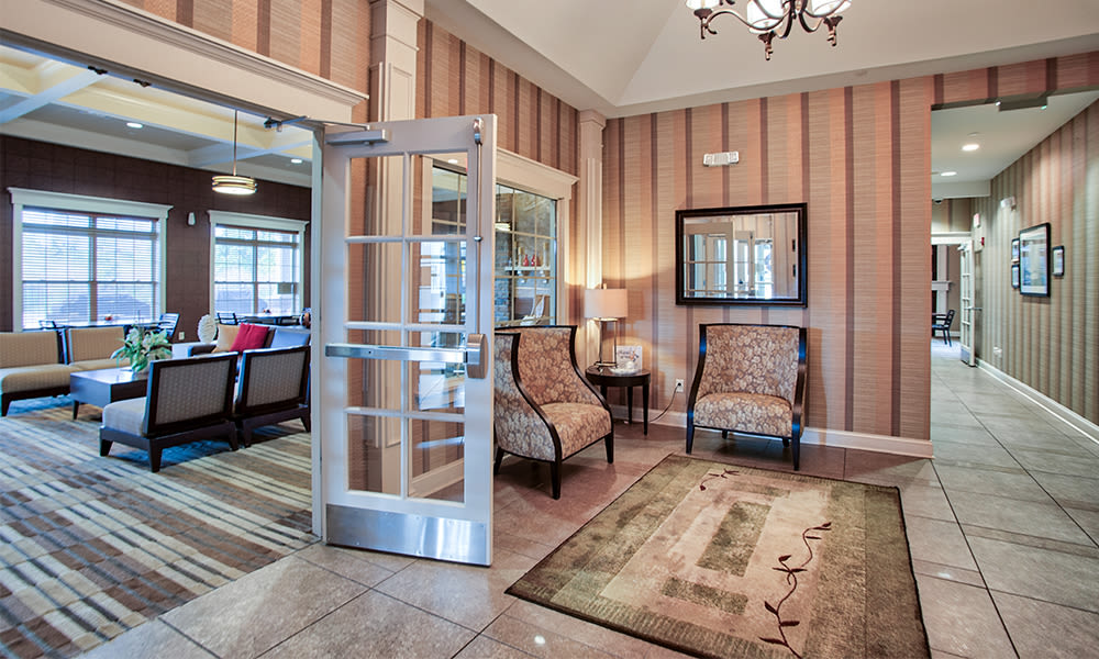 Beautiful clubhouse at apartments in Canonsburg, Pennsylvania