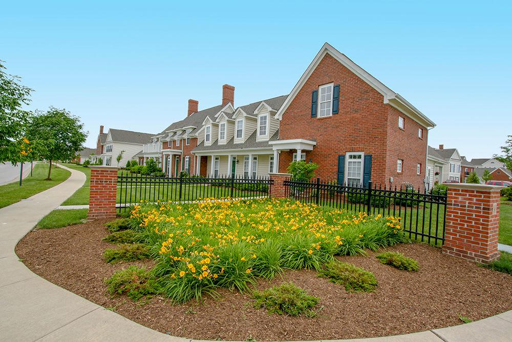 Exterior of apartments at Preston Gardens in Perrysburg, Ohio