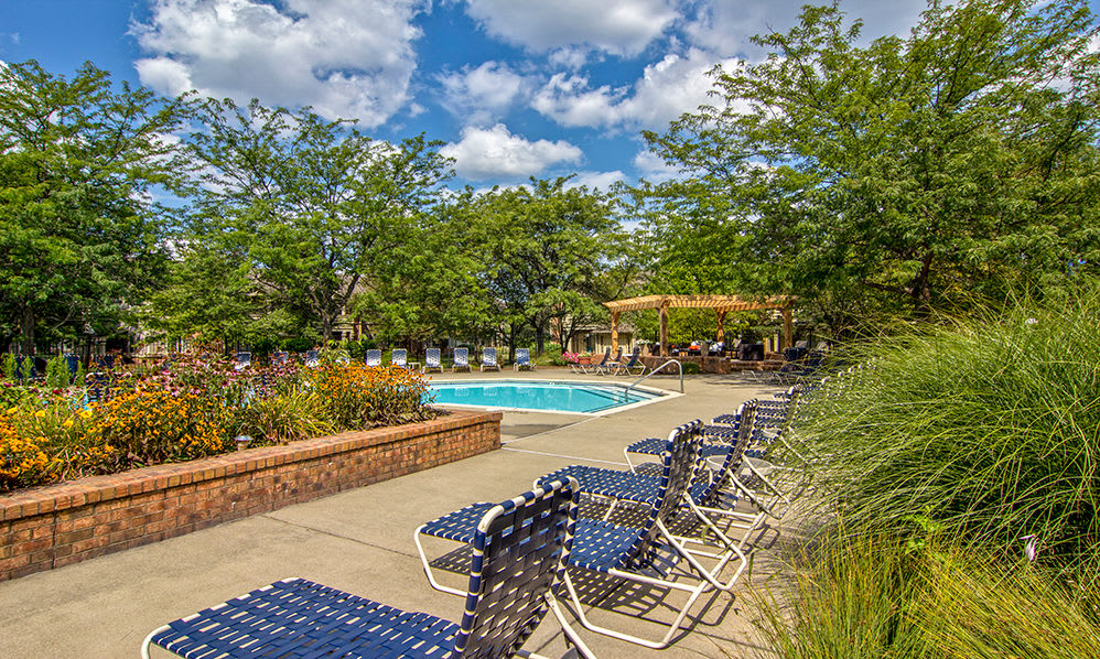 Sundeck at apartments in Perrysburg, Ohio
