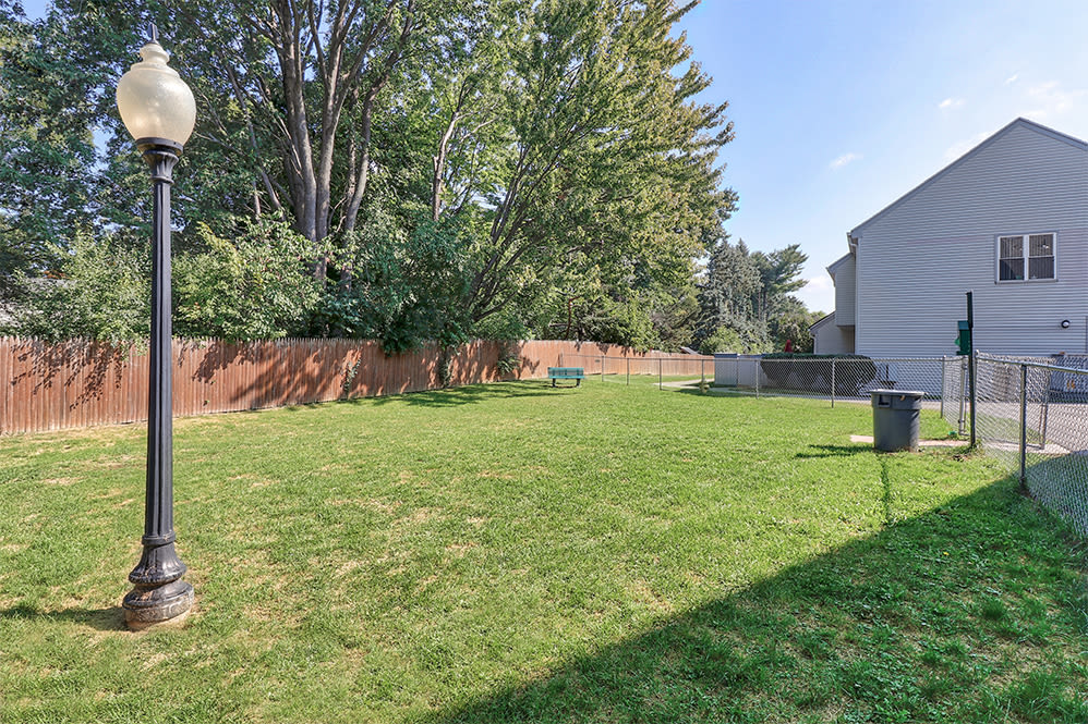 Dog park at Brighton Colony Townhomes in Rochester, New York