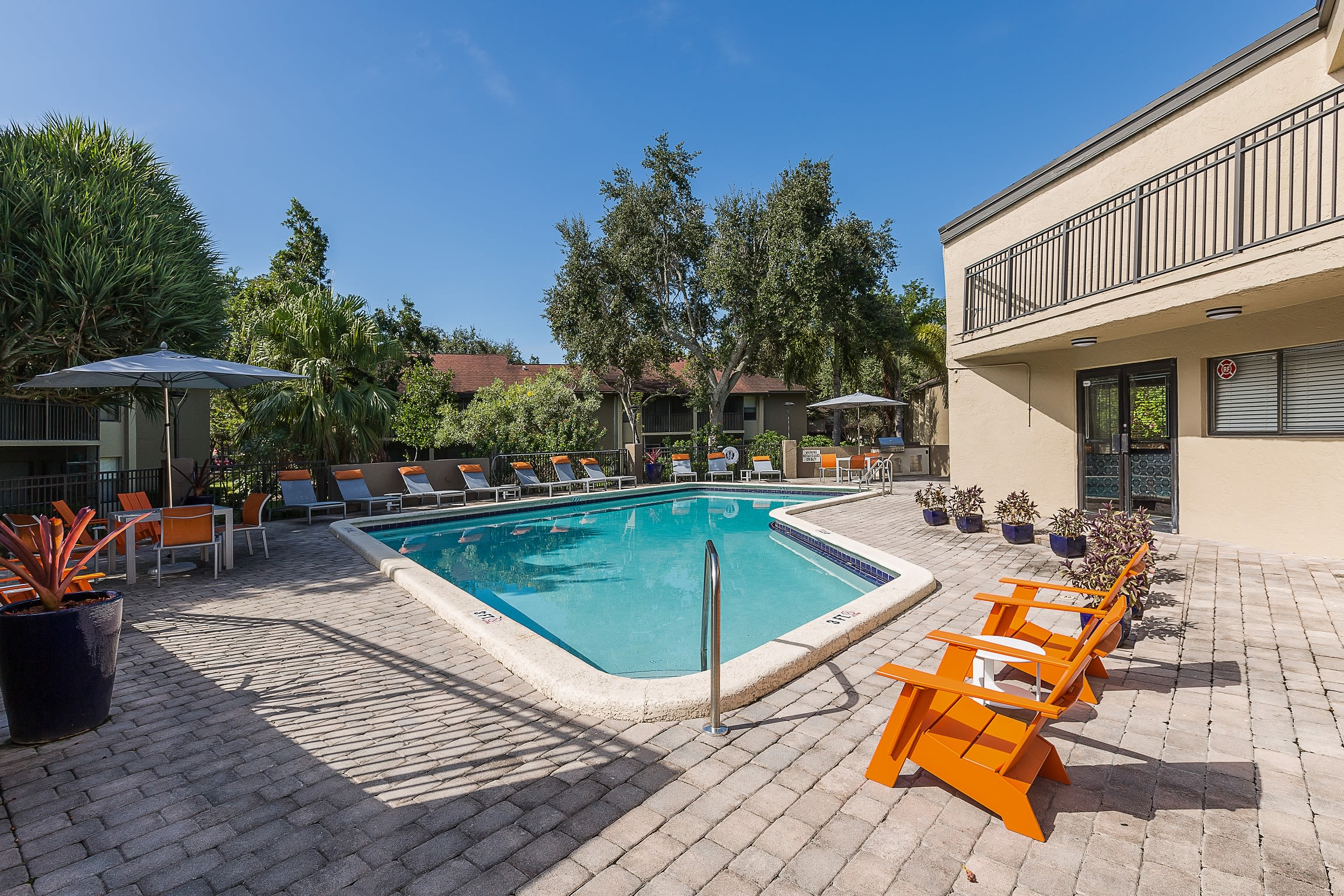 Swimming pool area at Siena Apartments in Plantation, Florida