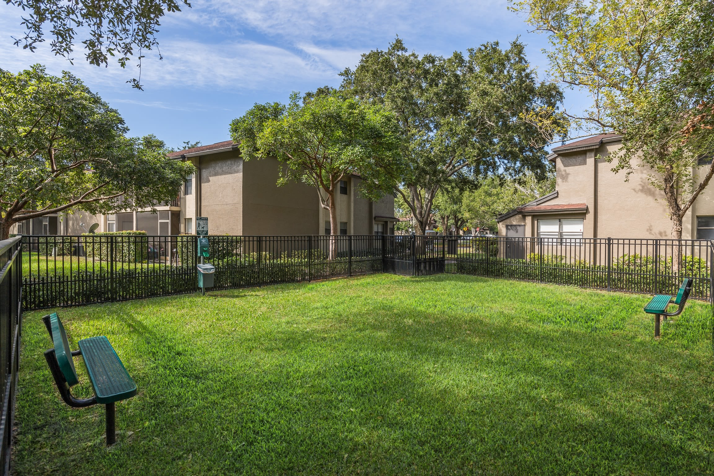 Very well-maintained green spaces at Siena Apartments in Plantation, Florida
