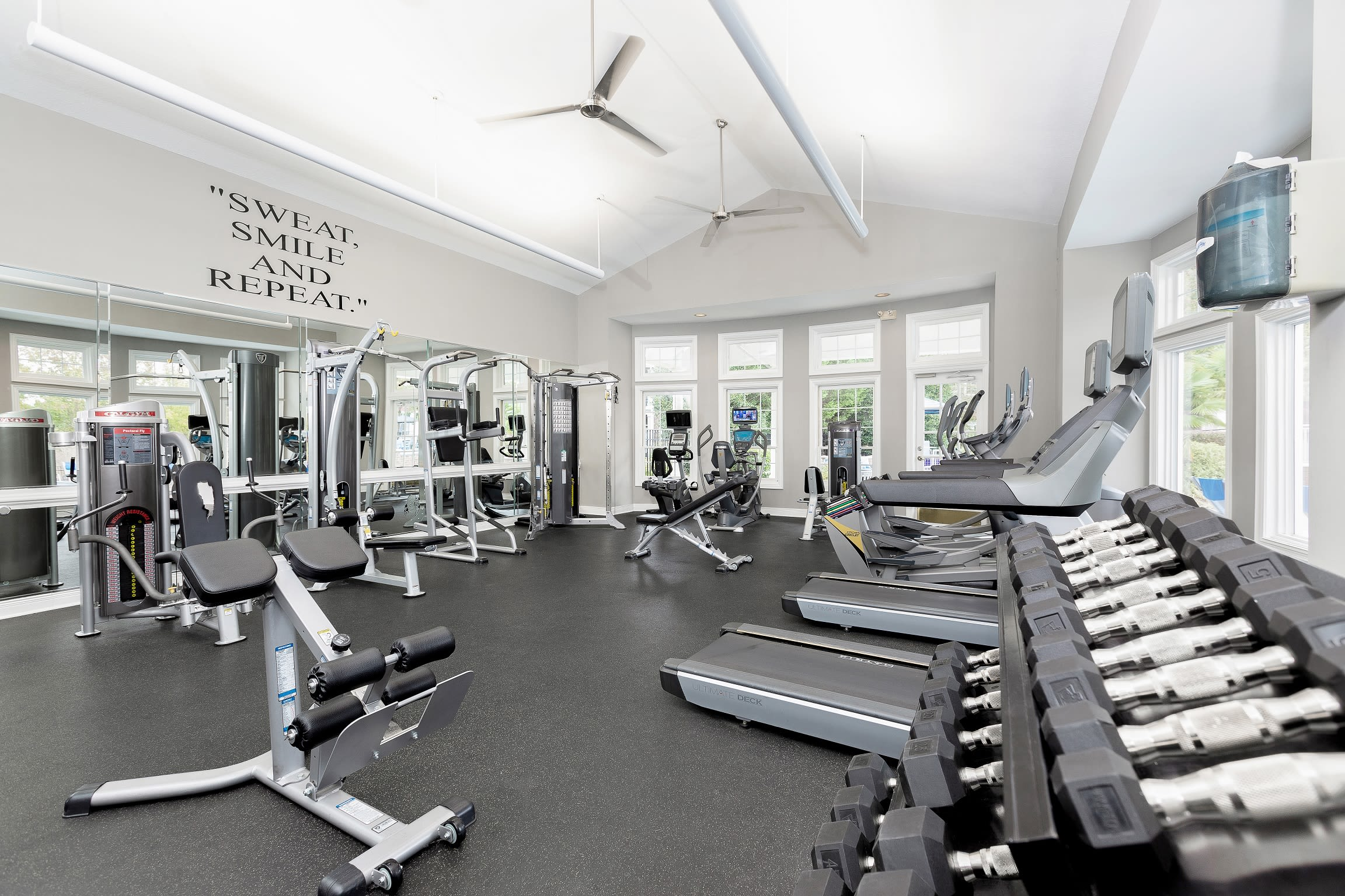 A well-equipped gym at Parc at 980