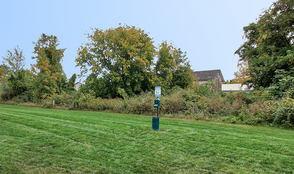 Dog park at Orchard View Senior Apartments in Rochester