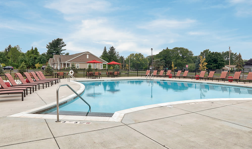 Swimming pool at Orchard View Senior Apartments in Rochester
