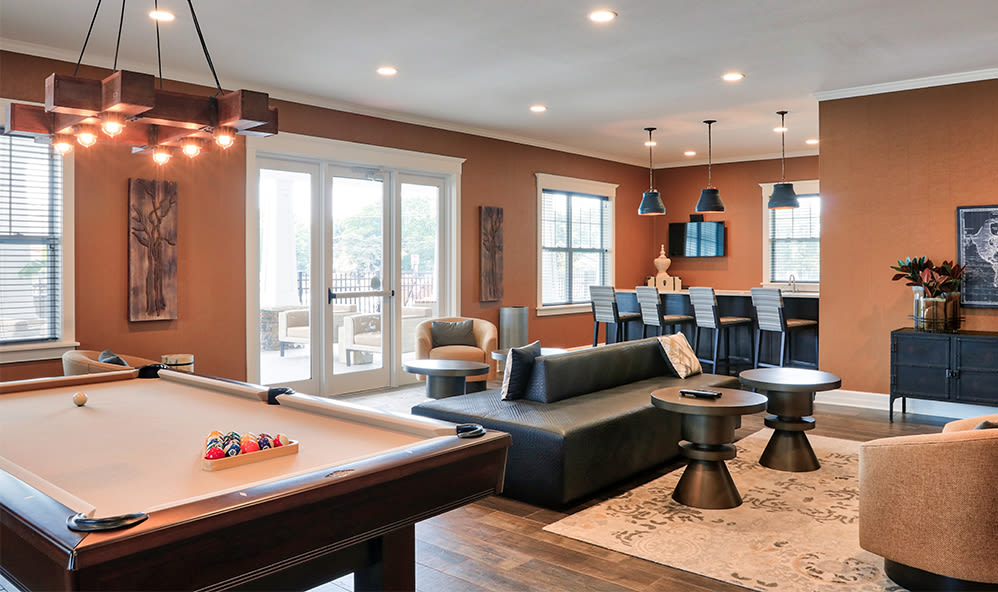 Spacious clubhouse at Orchard View Senior Apartments in Rochester, New York