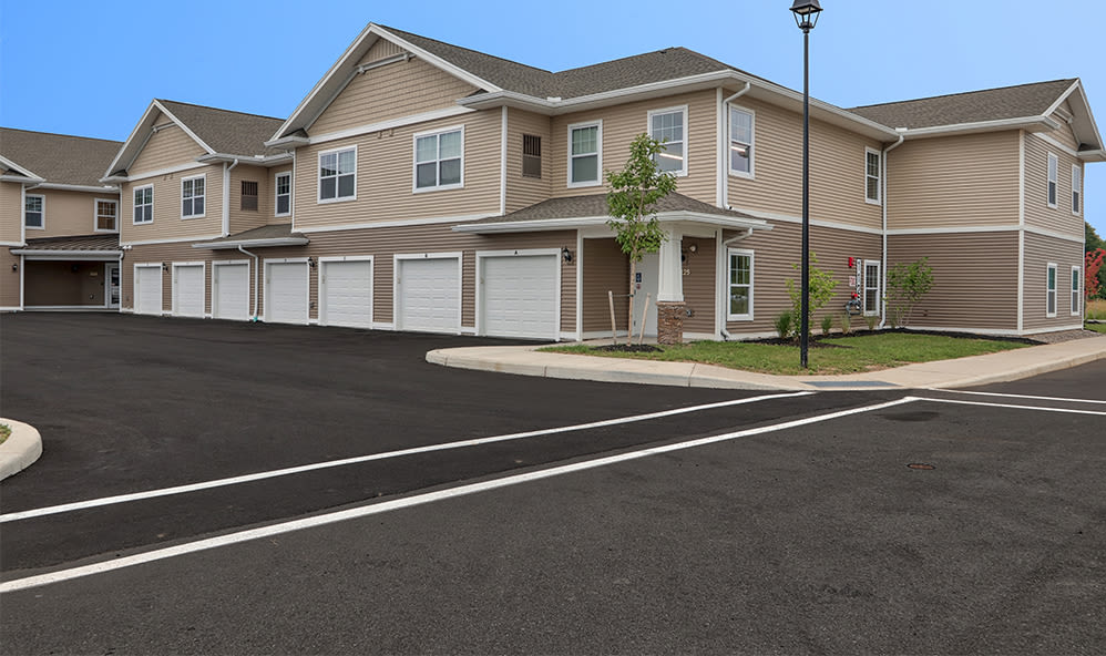 Apartments with a spacious garage