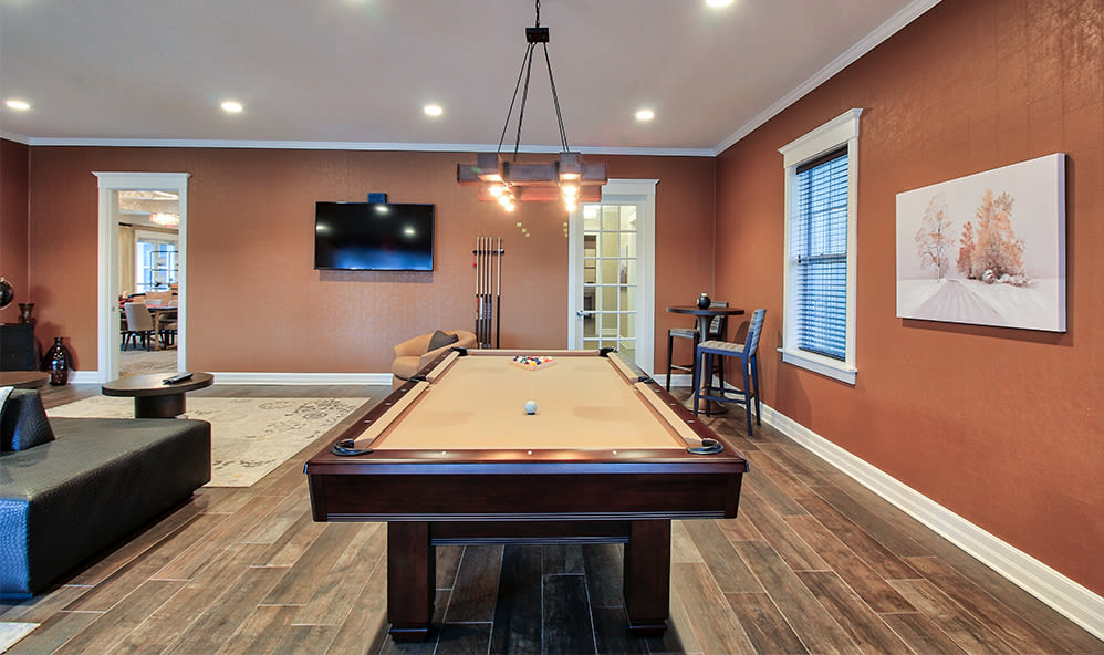 Billiards at Orchard View Senior Apartments in Rochester