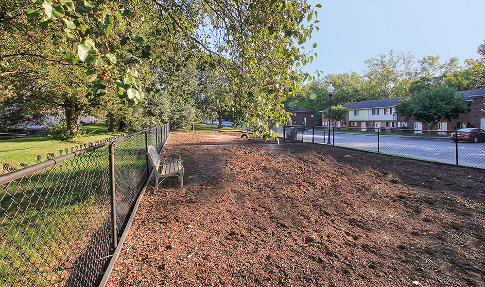Dog park at Elmwood Terrace Apartments & Townhomes in Rochester, New York
