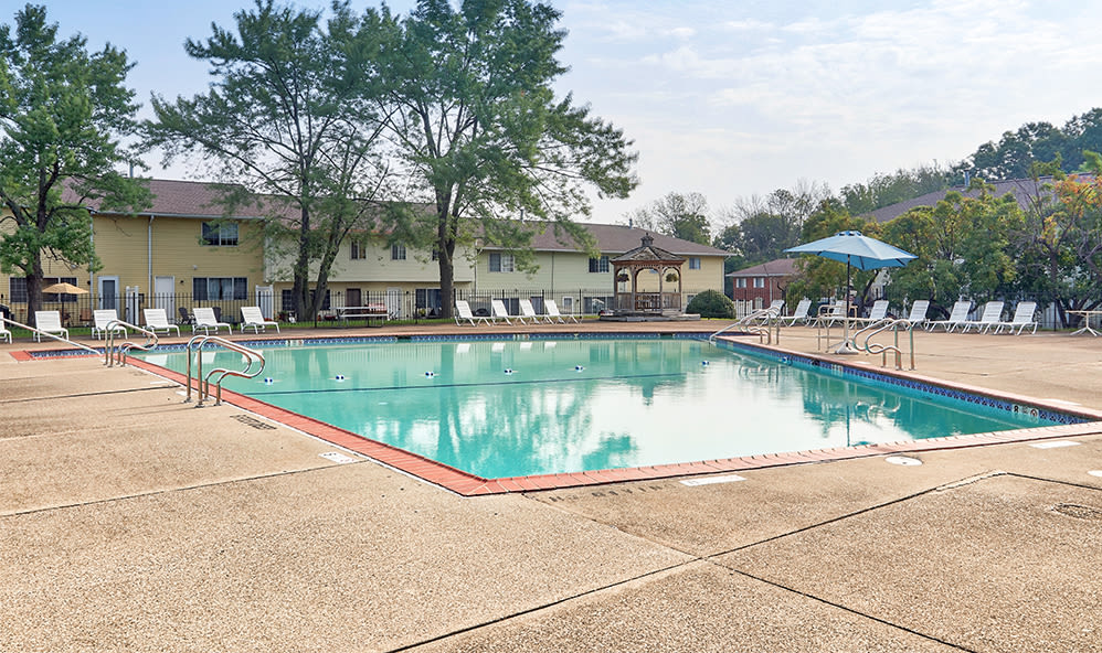 Swimming pool at Elmwood Terrace Apartments & Townhomes in Rochester, New York