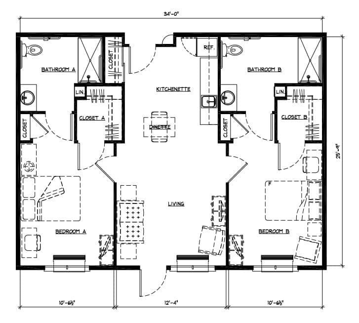 Sisters OR Senior Living Floor Plans Unique Floor Plan 2 Bedroom Apartment Style Painting