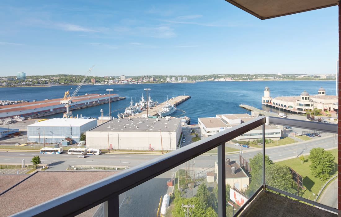 Beautiful river view from Cunard Apartments in Halifax