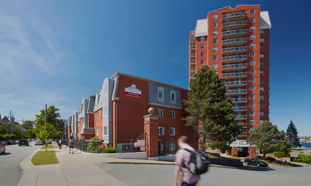 Exterior of the facility at Cunard Apartments in Halifax, NS