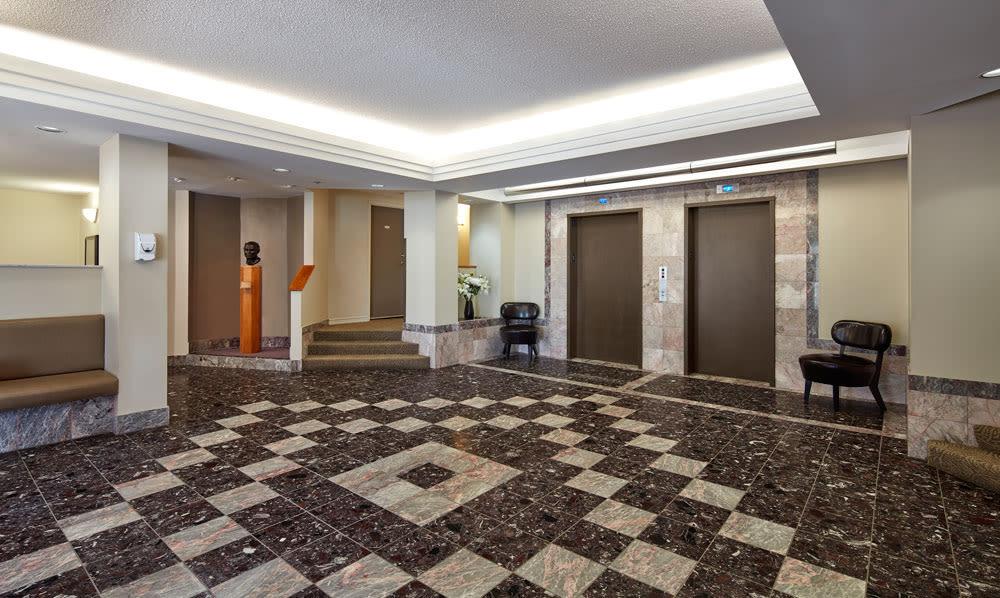 Elevators at Cunard Apartments in Halifax