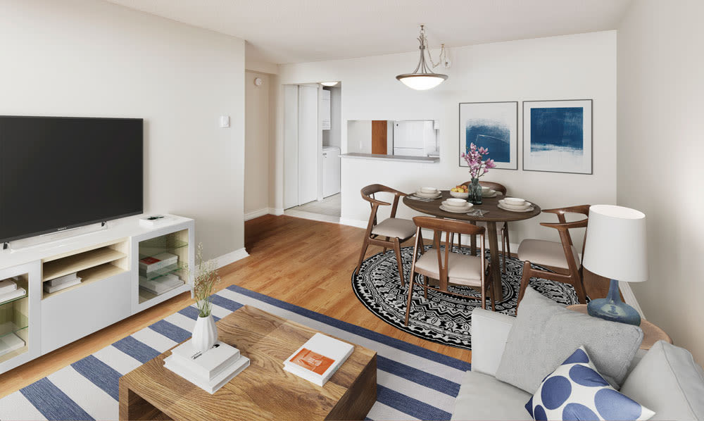Open floor plans at Cunard Apartments in Halifax