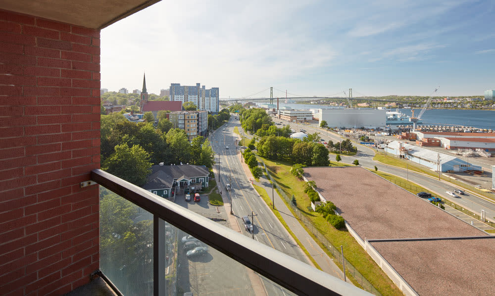 Cunard Apartments in Halifax, Nova Scotia offers apartments with a private balcony