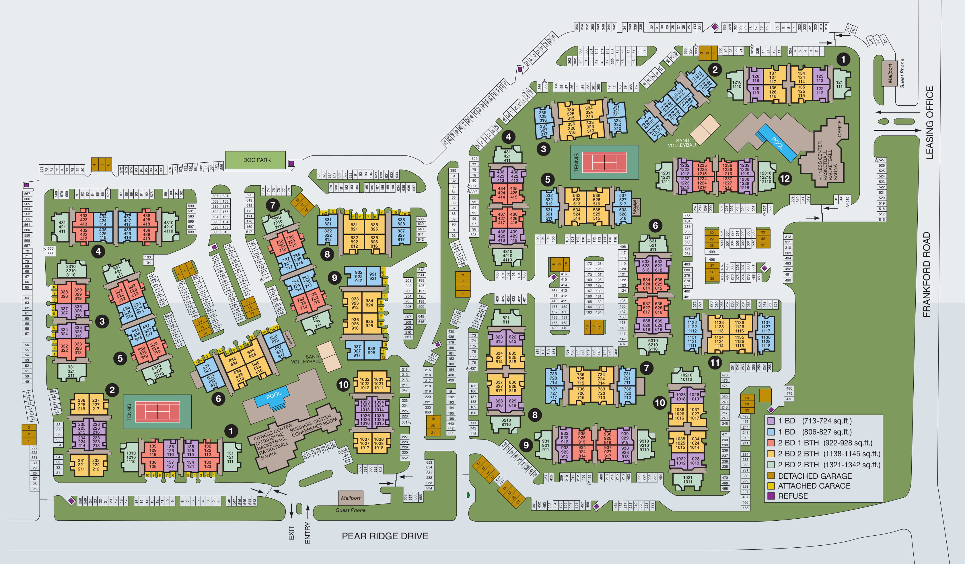 Site map of Rancho Palisades in Dallas, TX