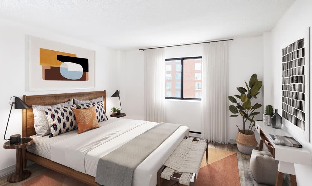 Bedroom at Halifax Apartments in Halifax, Nova Scotia showcase a modern bedroom
