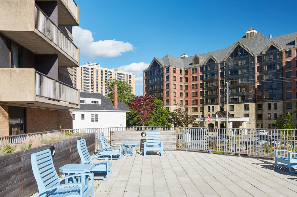 Pool area at Spring Garden in Halifax