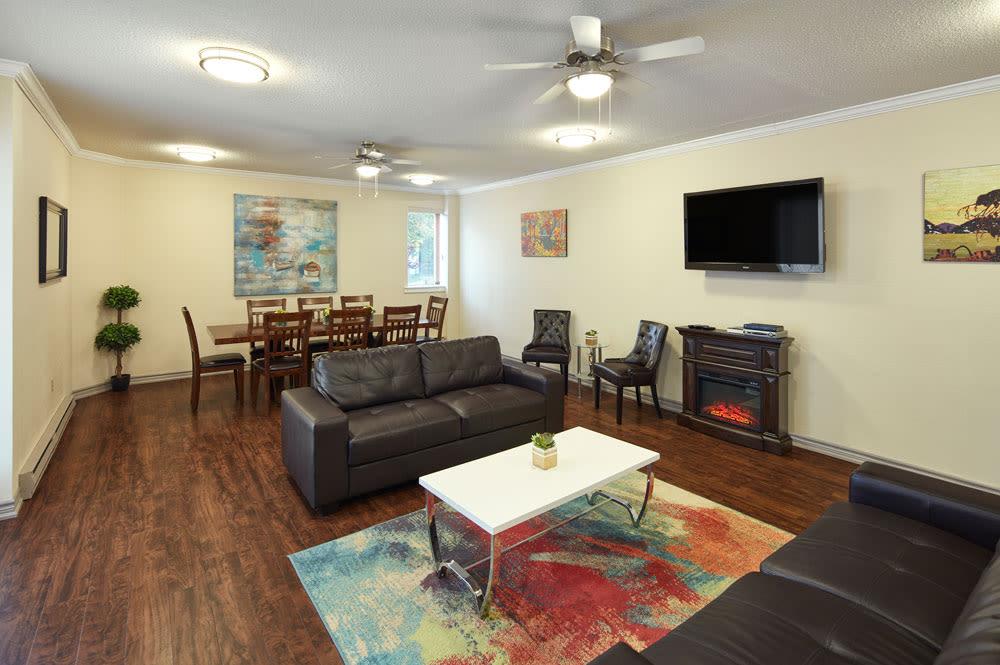 Spring Garden offers a modern living room in Halifax, Nova Scotia