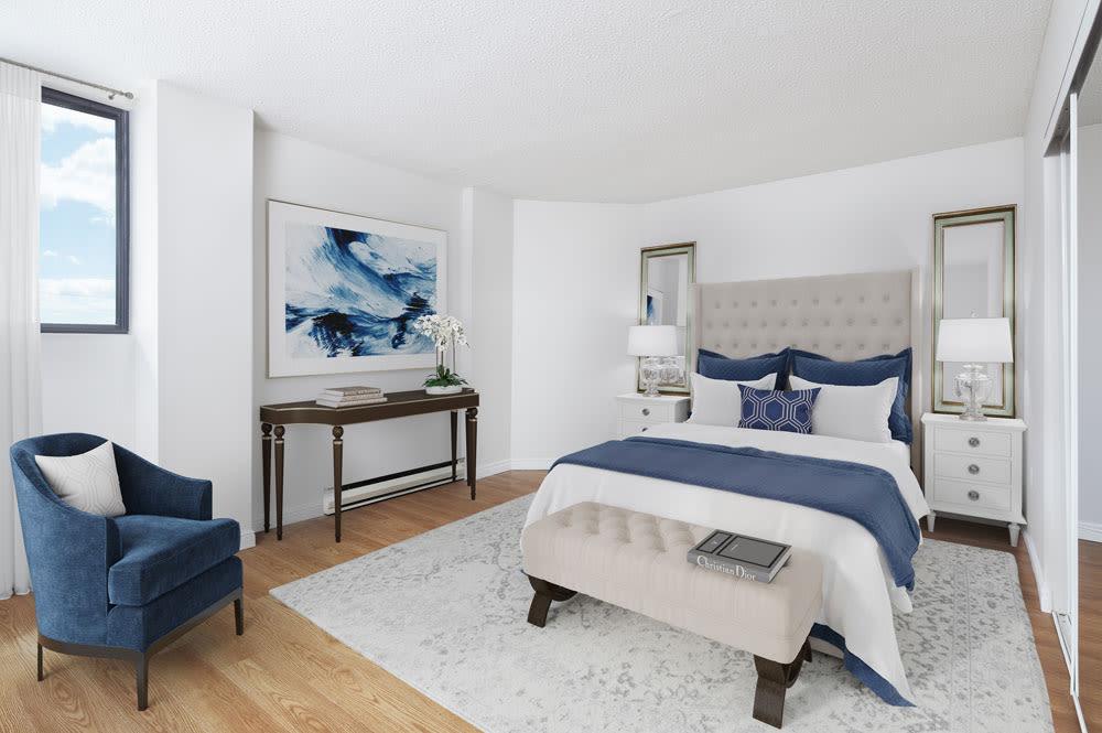 Spacious bedroom at Spring Garden in Halifax, Nova Scotia