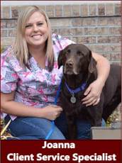 Client service specialist Joanna at Alta Animal Hospital in Pocatello