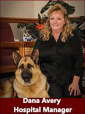 Hospital manager Dana Avery at Alta Animal Hospital in Pocatello