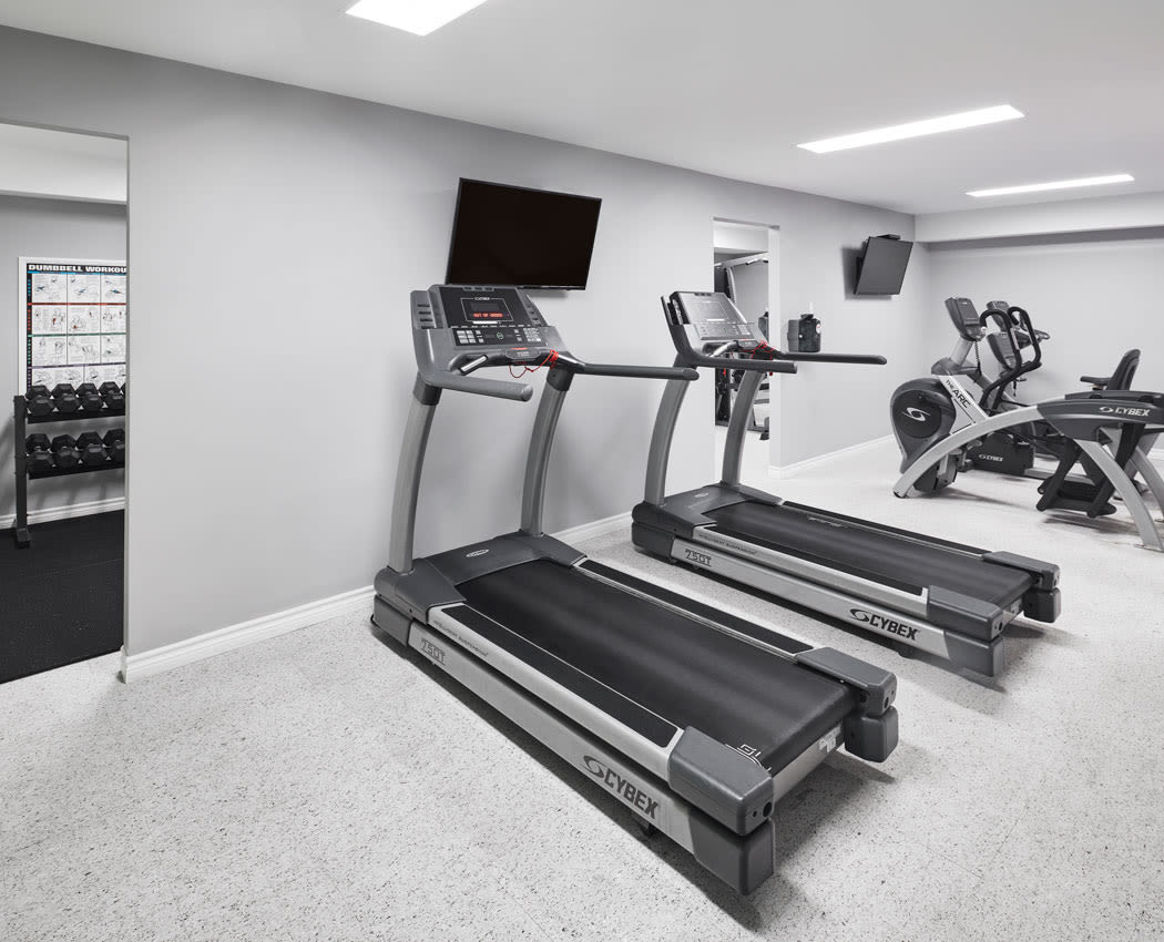 Enjoy our state-of-the-art apartments fitness center at StoneCrest Village