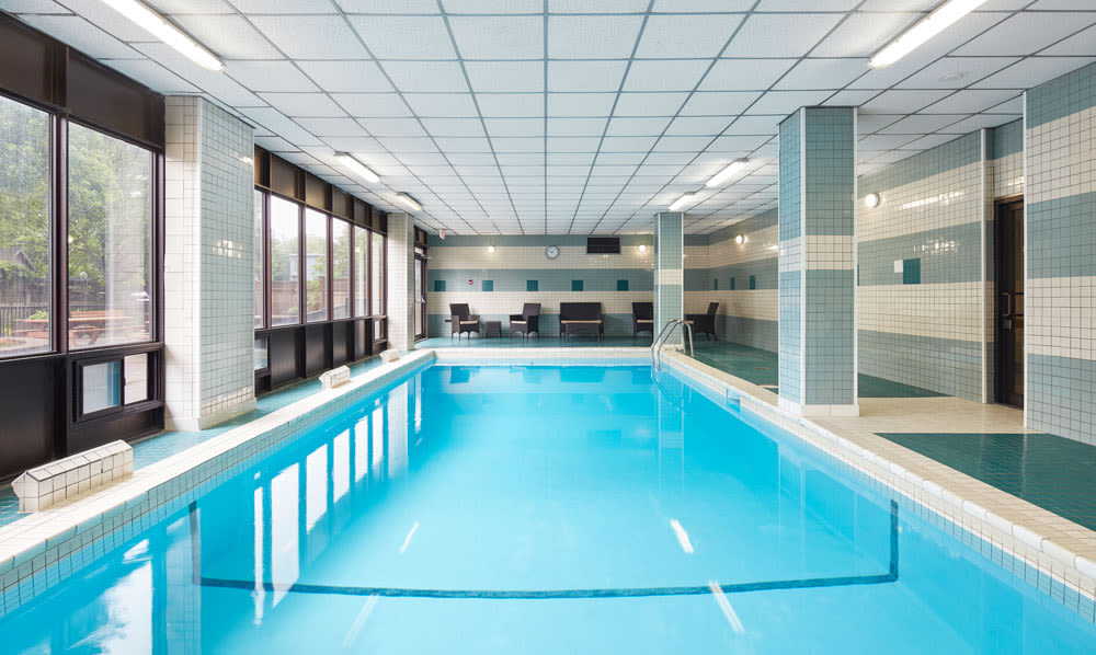 Indoor swimming pool at MacDonald Apartments in Halifax