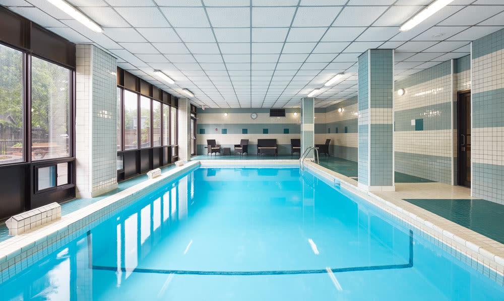 Beautiful swimming pool at MacDonald Apartments in Halifax, Nova Scotia