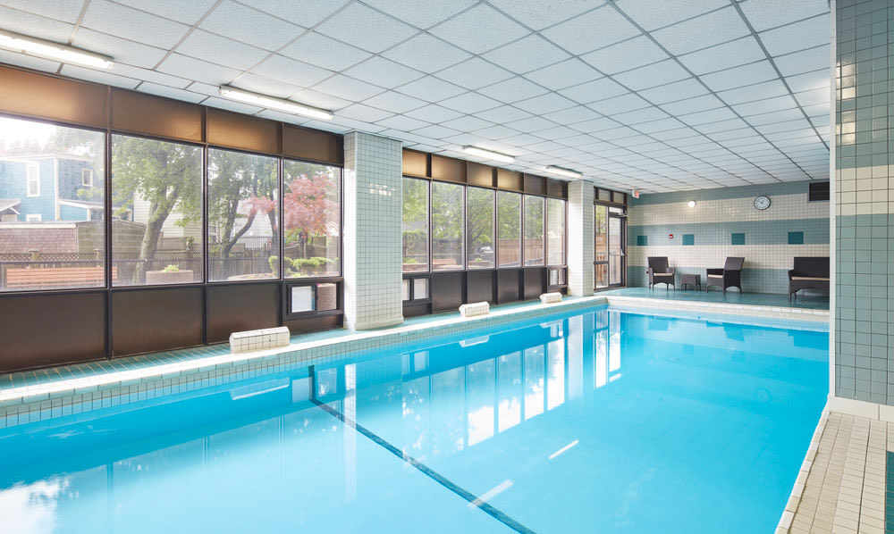MacDonald Apartments offers a naturally well-lit bedroom in Halifax, Nova Scotia	MacDonald Apartments offers a beautiful swimming pool in Halifax, Nova Scotia