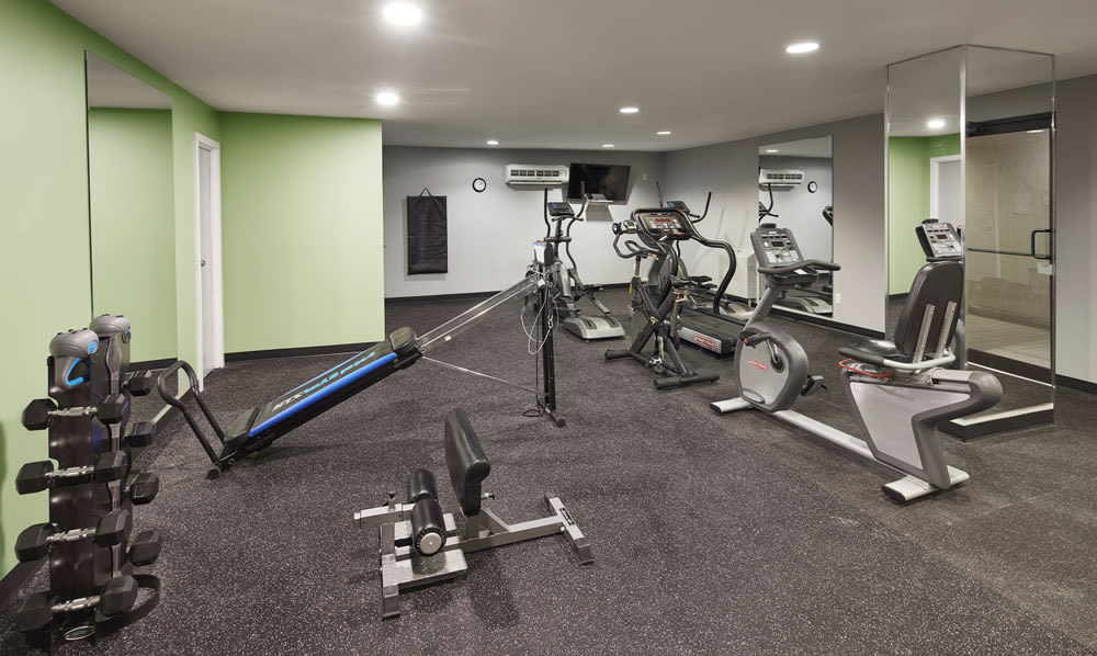 Modern fitness center at MacDonald Apartments in Halifax, Nova Scotia