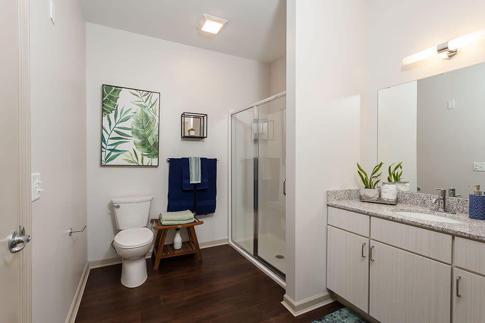 Bathroom at Village Heights Senior Apartments in Fairport, New York