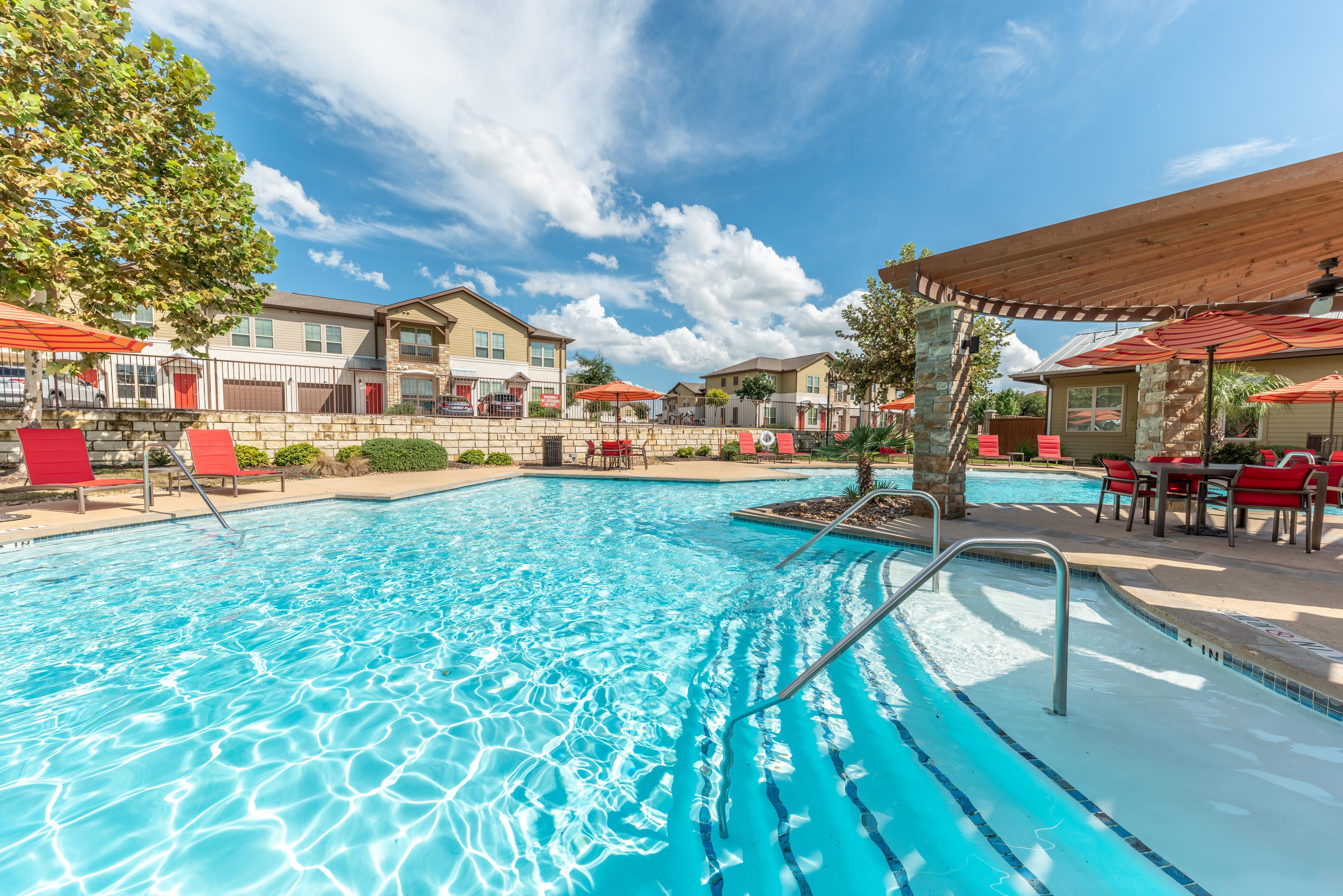 Outdoor pool at Firewheel Apartments in San Antonio