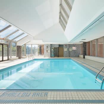 Indoor swimming pool at 57 Charles at Bay in Toronto