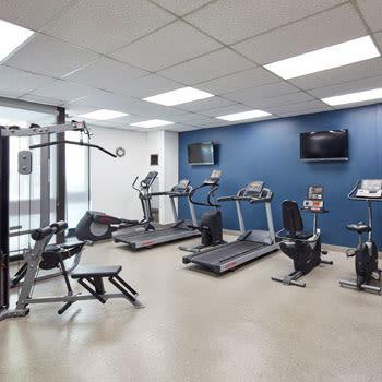 Fitness center at 57 Charles at Bay