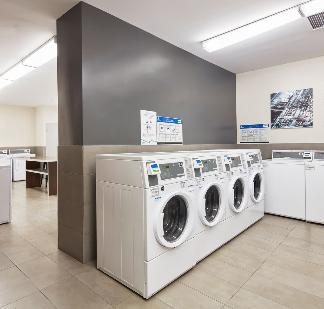 On-site laundry facility at 57 Charles at Bay